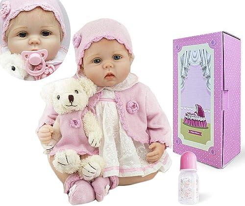 A la venta con descuento del 70%. ICradle 22 Pulgadas Pulgadas Pulgadas de 55 cm de Brillo Ojos Reborn Baby Doll Vida Real Buscando recién Nacido muñecas de Silicona Cabello Dorado Sweety (22Inch)  venta caliente en línea