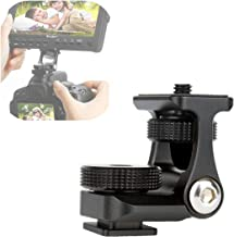 "UURig R007 Camera Monitor Mounting Bracket Adjustable Angle 1/4"" Thread Ballhead DSLR Cold Shoe Adapter Attach External Microphone Light Flash Accessories Magic Arm Mini Holder Mount Portable"