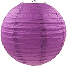 "(18"" inch) Decorative Round Paper Lantern for Festival Party - (Purple)"