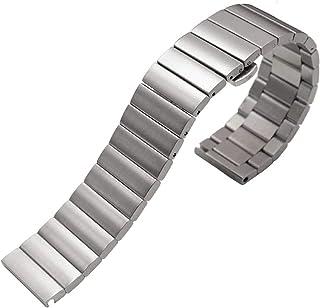 Achket الفولاذ ووتش الفرقة الفولاذ المقاوم للصدأ watchbands سوار 16 ملليمتر 18 ملليمتر 20 ملليمتر 22 ملليمتر الفضة الأسود ...