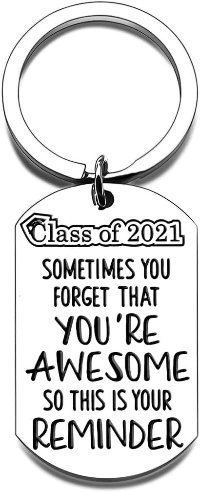 2021 College Inspirational Tulsa Mall Graduation Gifts Keychains Hi Her Save money for