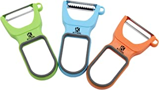 KITOOL 3-Set Good Grips Peeler, Premium Ultra Sharp Stainless Steel Julienne Peeler & Vegetable Peeler, Great for Apples, Carrots and Potatoes