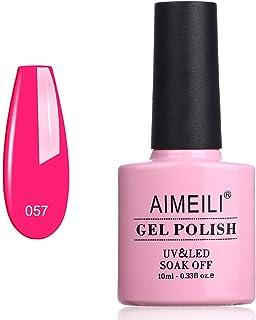 AIMEILI Soak Off UV LED Gel Nail Polish - Neon Very Berry (057) 10ml