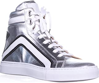 Belstaff Dillon High Top Fashion Sneakers, Silver