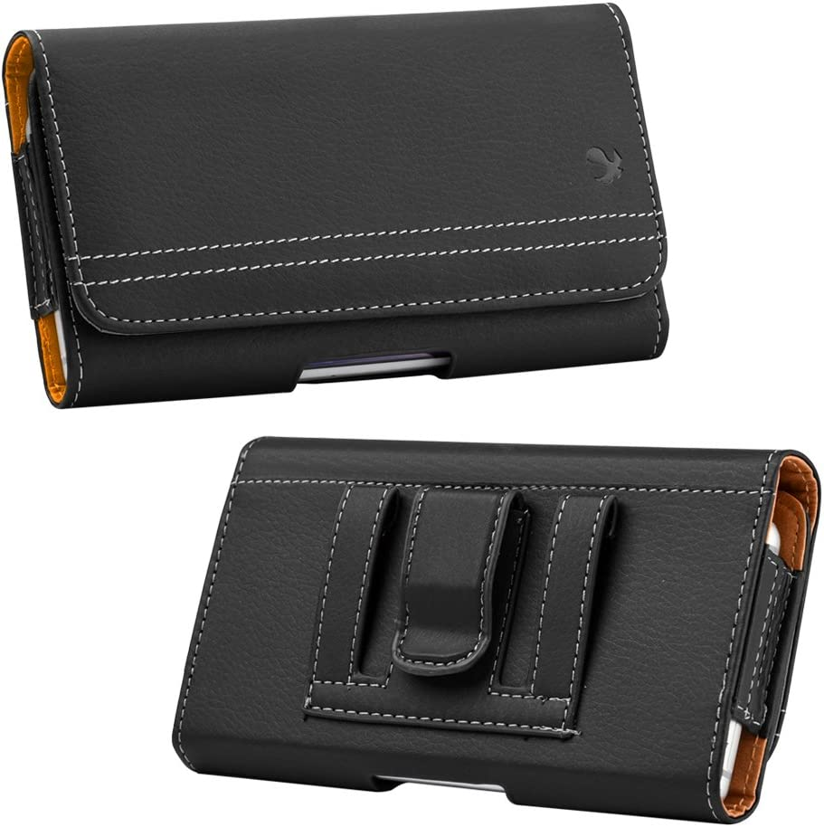 Black Belt Clip Phone Holster for OnePlus Nord N10 5G, Nord N100, 8T Plus 5G, 8T, for Nokia C1 Plus