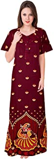 Trendy Fab Women's Cotton Night Gown Dress (Multicolor, Free Size)