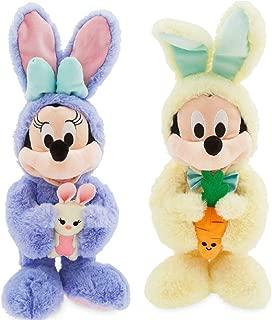 Plush Disney - Mickey & Minnie Mouse Bunny 2019 - Medium - 18'' - Set of 2