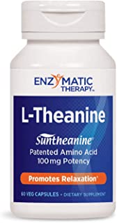 Enzymatic Therapy L-Theanine Suntheanine Brand Patented Amino Acid 100 mg Potency, 60 VCaps
