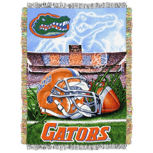 Florida Gators NCAA Woven Tapestry Throw (Home Field Advantage) (48x60 )