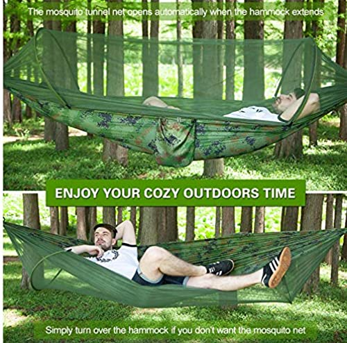 gran descuento Dylisy Outdoor Camping Tent Mosquito Tent Garden Garden Garden Parachute Hammock Sleeping Hang Bed with Mosquito Net with Swing Extension Straps Clip  hasta 42% de descuento