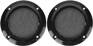 Tosuny 2 Zoll Lautsprecher Gitter Grill 2 teilig Kunststoffring mit Metallgitter schwarz/Gold/Silber(schwarz)