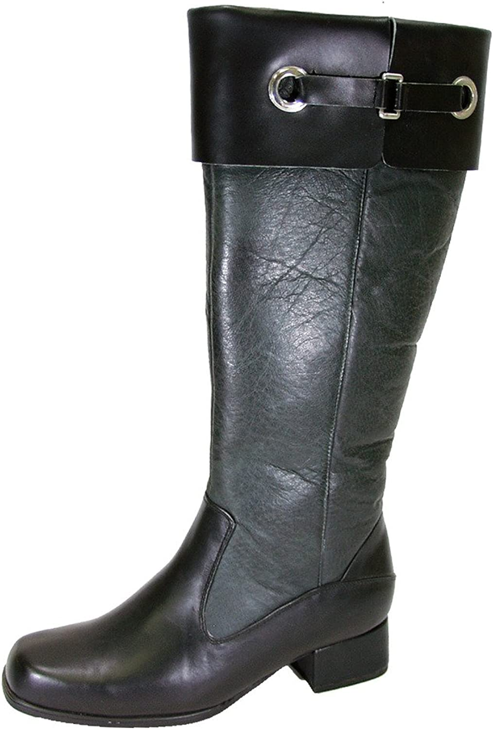 Peerage FIC Taylor Women Wide Width Leather Knee High Dress Boots (Size & Measurement Guides Available)