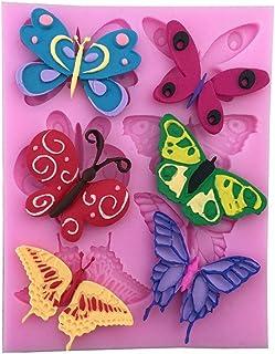 Hobby Calchi Stampino per utilizzo Artigianale DIY KIRALOVE Stampo in Silicone a Forma di Farfalla x 3 calchi Fai da Te