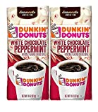 Dunkin Donuts White Chocolate Peppermint Ground Coffee, 11 oz (2 PACK)