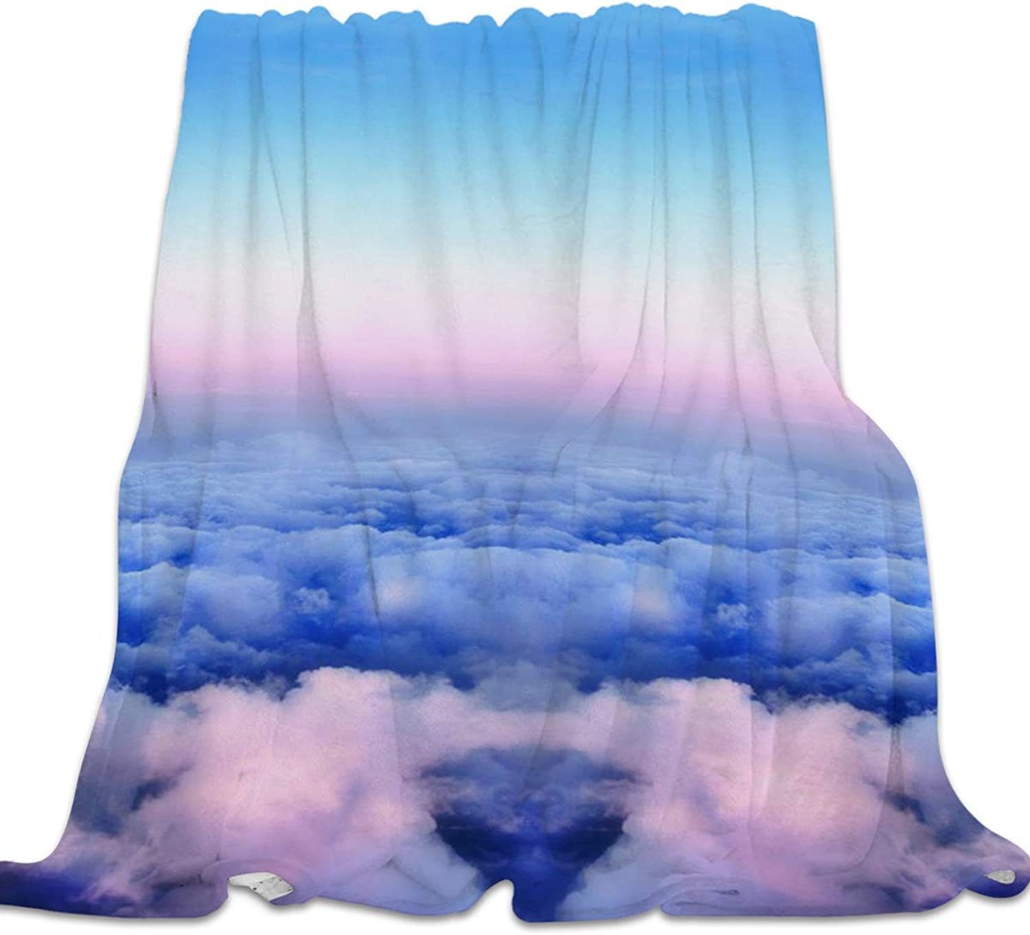 YEHO Art Gallery 39x49 Inch Flannel Fleece Bed Blanket Soft Throw-Blankets for Kids Adult,Beautiful Landscape of Cloud,Lightweight Blankets for Bedroom Living Room Sofa Couch Home Decor