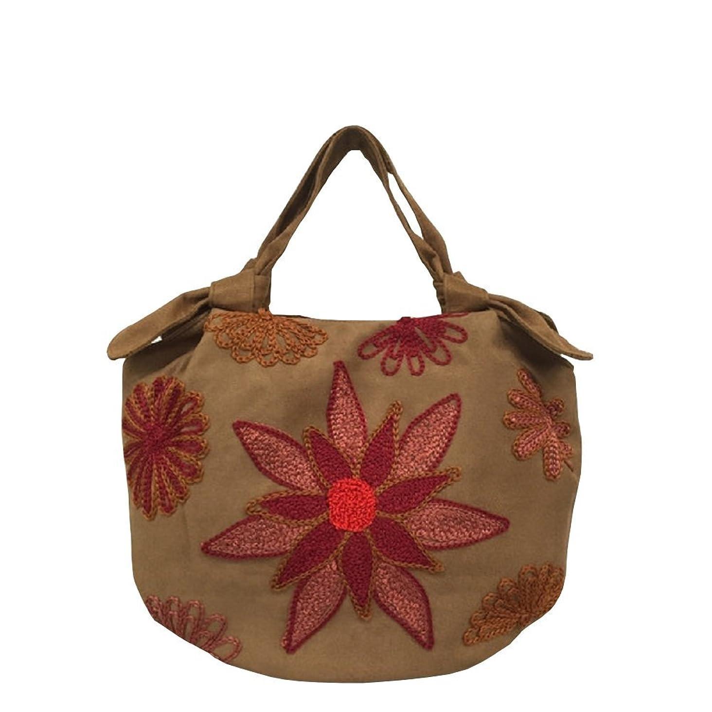 顧問宗教ピューベトナムバッグ 刺繍 ハンドバッグ 手提げ 鞄 両面刺繍 ベトナム雑貨 花柄