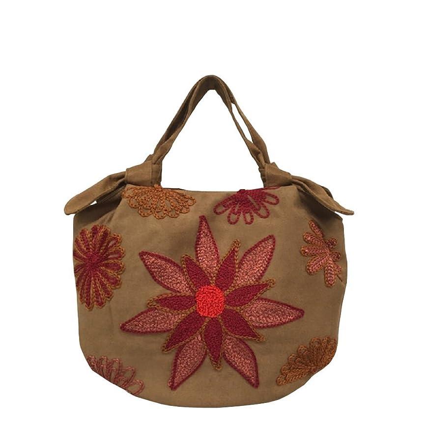すでにアプト豊富ベトナムバッグ 刺繍 ハンドバッグ 手提げ 鞄 両面刺繍 ベトナム雑貨 花柄