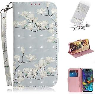 YIJINYA ESHOP Funda de piel con tapa para LG K50, diseño de Mognolia en 3D, con tarjetero, tarjetero y cartera
