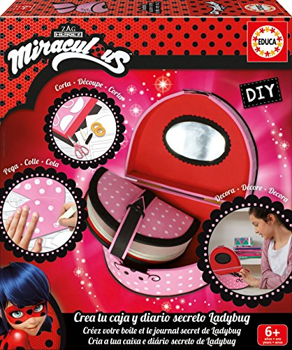 Educa Borrás 17420 DIY Tagebuch Miraculous Ladybug