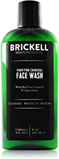 Brickell Men's Purifying Charcoal Face Wash for Men, Natural and Organic Daily..