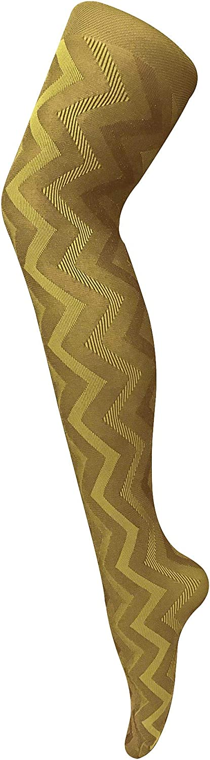 Womens 80 denier vintage opaque tights with patterned design