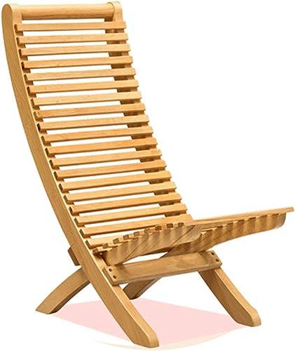 HUIFA Chaise Longue En Bois Balcon Chaise Pliante Chaise portable Maison Pause Déjeuner Chaise Moderne Minimaliste (taille   S)