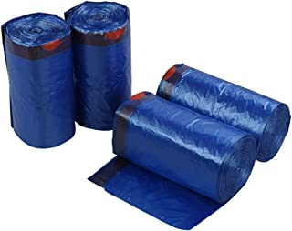 Fiaze 5 Gallon Drawstring Trash Bags, 220 Counts Blue Garbage Bags