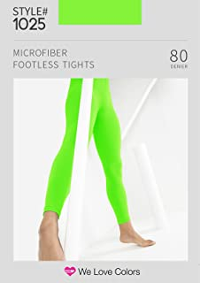 Microfiber Footless Tights - We Love Colors - Small, Medium, Large, Xlarge