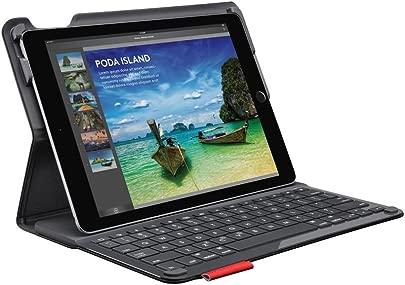 Logitech iPad nbsp Air nbsp 2 Tastatur-Case  Type mit kabelloser Tastatur und Bluetooth  QWERTZ Deutsches Tastatur-Layout  schwarz