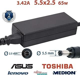Polker Cable Cargador para ASUS y Toshiba portátil 3.42А 5.5 ...