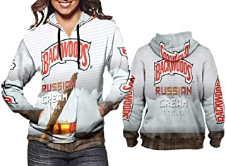 New Fans Backwoods Russian Cream Fullprint Sublimation Women Hoodie Size S - 3XL
