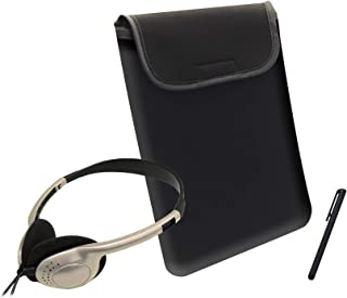 Caseworks (ACC1802) Tablet Accessory Kit - (Colored Headphones, Sleeve, and Stylus) - (Set of 3, Gold)