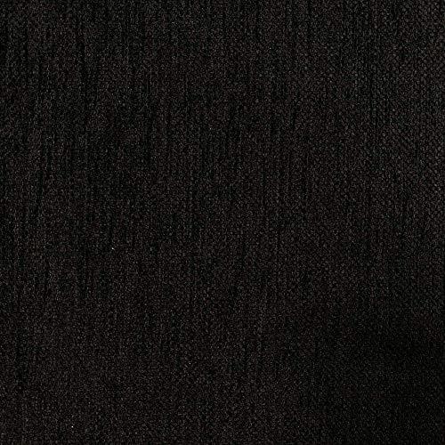 Kt KILOtela Tela de tapicería Lisa - Chenilla de Doble Cara - Tacto Suave Aterciopelado - Muy Resistente - Ancho 280 cm - Largo a elección de 50 en 50 cm | Negro