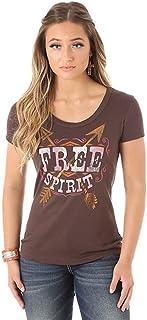 Wrangler Women's Short Sleeve Crew Neck FREE SPIRIT T-Shirt (X-Large)