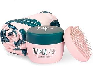 Coco & Eve That's A Wrap Set - Maschera Capelli, Spazzola Districante e Asciugamano in Microfibra | prodotti per la cura d...