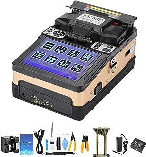 Máquina de empalme de soldadura de fibra óptica FS-60C, empalmadora de fusión de fibra óptica de 100-240 V adecuada para proyectos de cable y fibra óptica(US plug)
