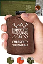 Emergency Sleeping Bag With Hood   Ultralight, Waterproof, Thermal Mylar Sleeping Bag..