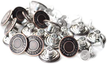 17mm Replacement Jean Buttons Set of 20 DGQ Combo Copper Tack Buttons Snap