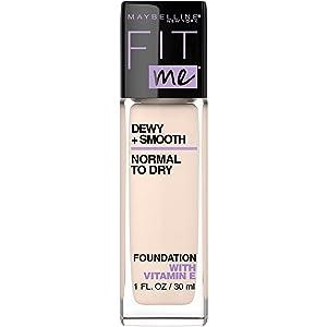 Maybelline Fit Me Dewy + Smooth Foundation Makeup, Fair Porcelain, 1 fl. oz.
