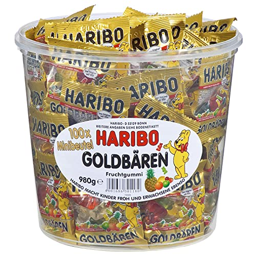 Haribo Orsetti D'Oro (Goldbären) - Box, 100 Mini Bustine