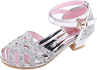 Yihome Children's Girls Bling Dance Shoes Latin Dance Shoes Princess Shoes Single Shoes Cool Shoes Sandals Dancing Shoes