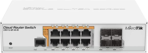 MikroTik Gigabit Ethernet Smart Switch with PoE-out and RouterOS L5 (CRS112-8P-4S-IN)