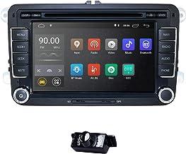 Android 10 Car Radio para VW Radio con Navi Compatible con Bluetooth aptX, Dab + CD DVD Android Car WiFi 4G USB MicroSD 2 DIN 7 Pulgadas Pantalla DSP Audio + Cámara