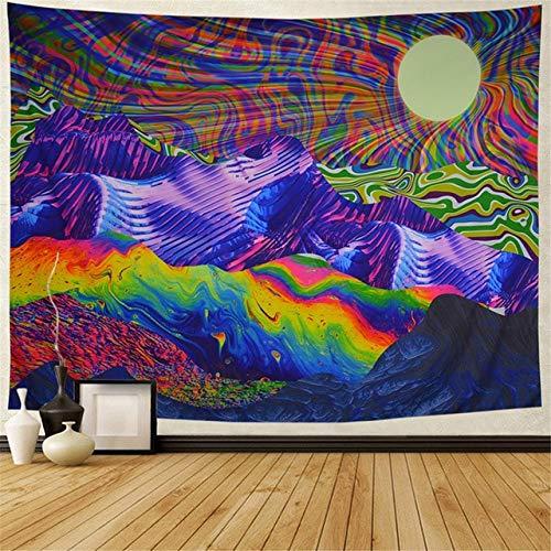 ydlcxst Mandala Tapiz Psicodélico para Colgar En La Pared Alfombras De Playa para Yoga Hippie Mobiliario para El Hogar Paño De Pared Tapiz Decorativo Bohemio Toalla De Playa Manta 150X200 Cm / F1802
