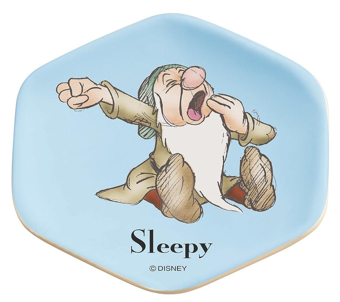 花輪曲線緊急スケーター ミニ プレート 小皿 アクセサリー 小物置き 7人のこびと Sleepy 白雪姫 ディズニー MPHN1