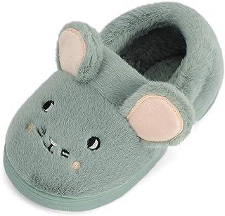 MASOCIO Zapatillas de Estar por Casa para Niñas Niños Invierno Pantuflas Casa de Cálido Suave Algodón Calentar Antideslizante