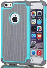 AGRIGLE Shock-Absorption Anti-Scratch Heavy Duty Dual Layer Protective Case Compatible iPhone 6 Plus / 6s Plus 5.5 in (Teal)