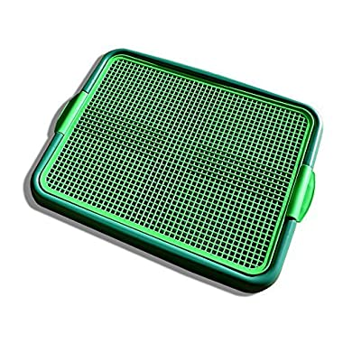 Blyss Pets Klean Paws Indoor Dog Potty, No Torn Potty Pads! Keep Paws Dry! Protect Floors! Easy Cleanup! Save Money On Pads! for Puppies, Small Dogs & Cats, 1 Puppy Pad Holder Tray, Guarantee
