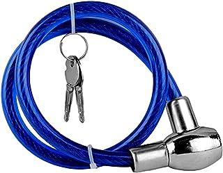 AllExtreme EXHBL1M Heavy Duty Multipurpose Cable Lock for Bike, Luggage, Helmet, Steel Keylock, Anti-Theft (Multicolor)