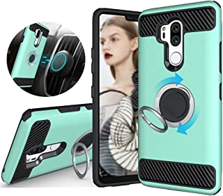 LG G7 Case/LG G7 ThinQ Case, GETE 360 Degree Rotating Ring Holder Kickstand Protective Cover for LG G7 ThinQ (2018) (Mint)